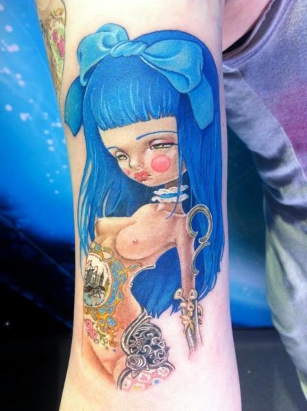 Arm Fantasy Women Tattoo by David Corden Tattoos