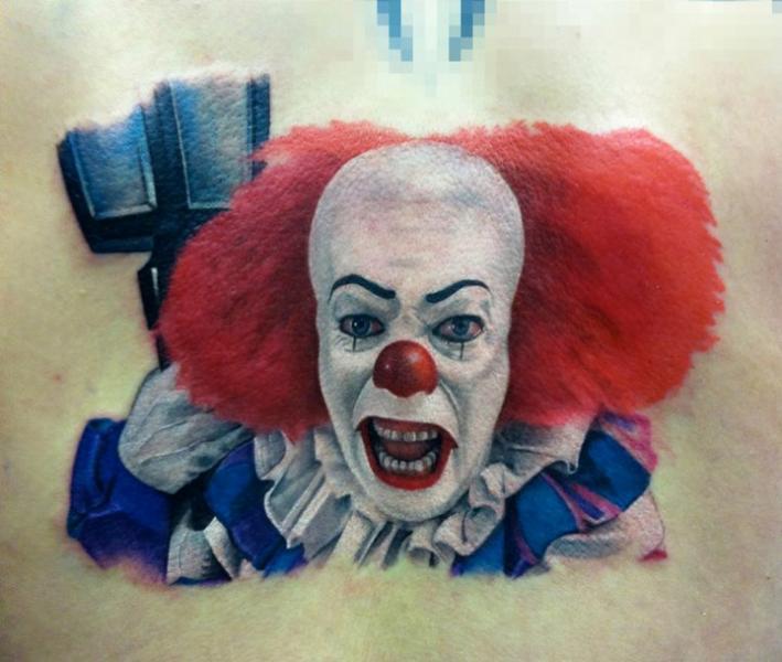 Tatuaje Fantasy Payaso por David Corden Tattoos