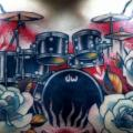 Chest Drum tattoo by Justin Hartman