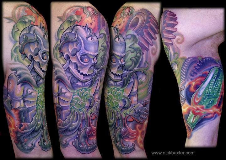 Arm Fantasy Robot Tattoo by Nick Baxter