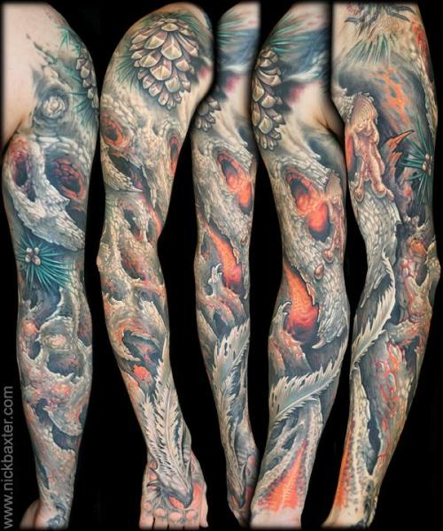Fantasy Sleeve Tattoo by Nick Baxter
