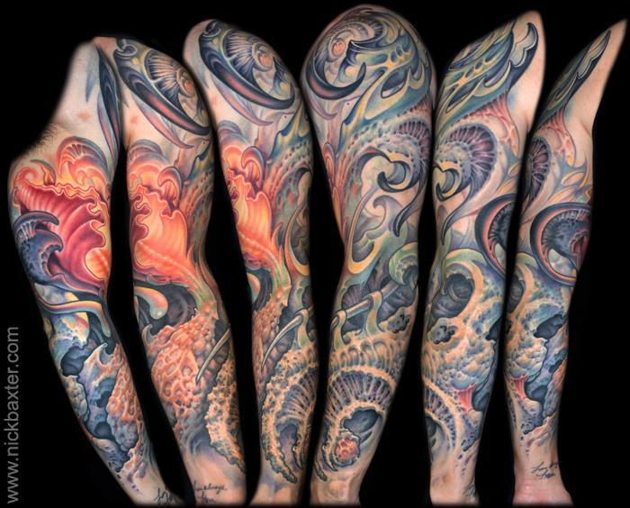 Tatuaje Fantasy Manga por Nick Baxter