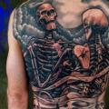 Back Skeleton tattoo by Plurabella