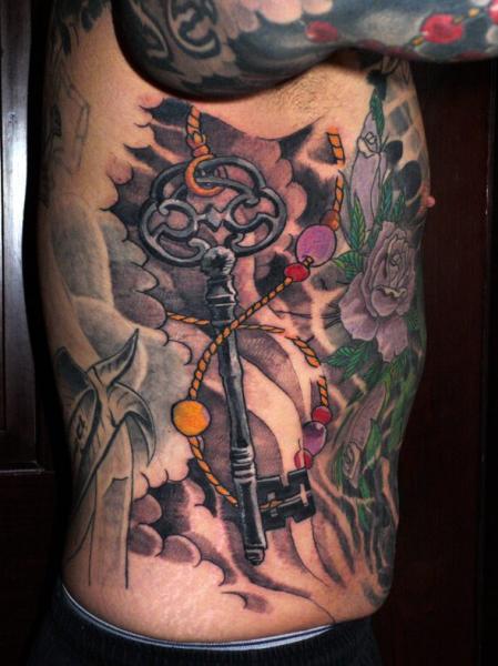 Realistic Side Key Tattoo by Plurabella