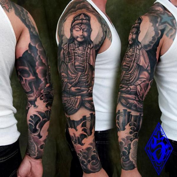 Tatuaje Buda Religioso Manga por Plurabella