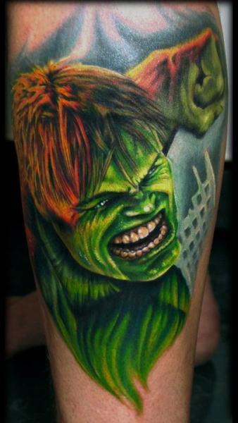 Arm Fantasy Hulk Tattoo by Stefano Alcantara
