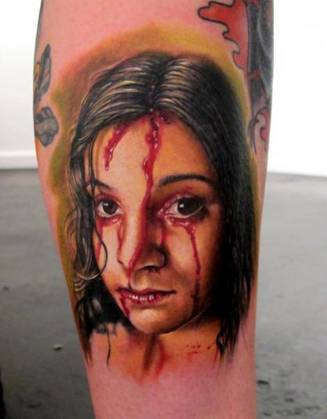 Fantasy Women Blood Tattoo by Stefano Alcantara