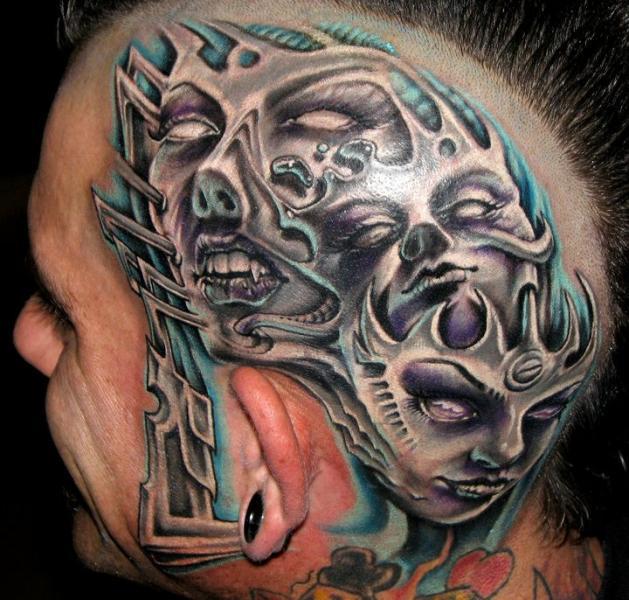Tatuaje Fantasy Mujer Cabeza por Stefano Alcantara
