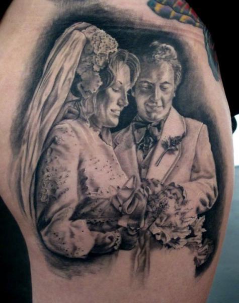 Realistische Frauen Männer Tattoo von Stefano Alcantara