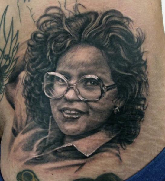 Portrait Realistic Tattoo by Stefano Alcantara