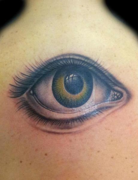 Realistic Back Eye Tattoo by Nirvana Tattoo