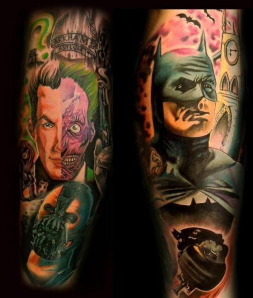 Arm Fantasy Batman Joker Tattoo by Original Tattoo