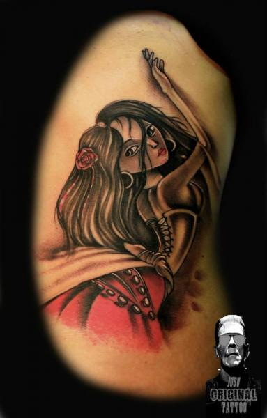 Arm Fantasie Frauen Tattoo von Original Tattoo
