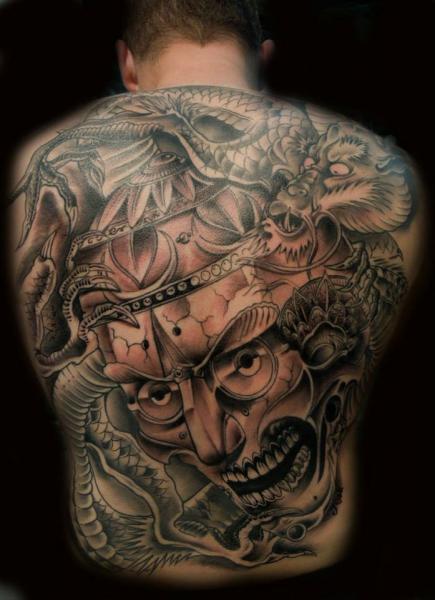 Japanische Rücken Tattoo von Original Tattoo