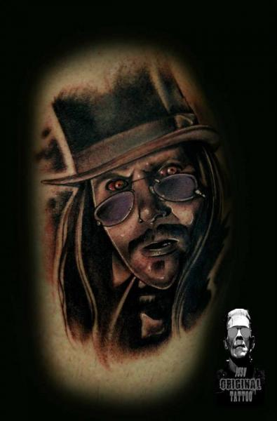 Shoulder Fantasy Portrait Tattoo by Original Tattoo