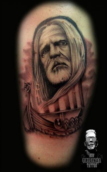 Shoulder Portrait Tattoo by Original Tattoo