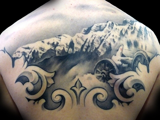 Back Mountain Tattoo by Demon Tattoo