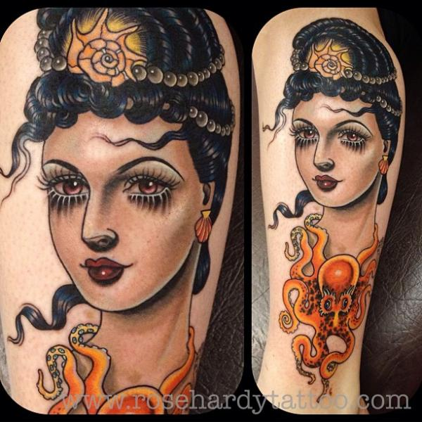 Arm Women Octopus Tattoo by Rose Hardy Tattoo