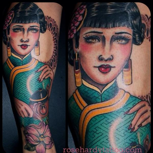 Arm Women Geisha Tattoo by Rose Hardy Tattoo