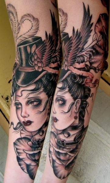 Arm Frauen Tattoo von Rose Hardy Tattoo
