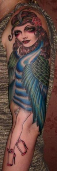 Arm Women Peacock Tattoo by Rose Hardy Tattoo