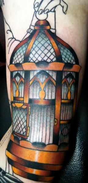 New School Cage Tattoo by Rose Hardy Tattoo