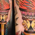 New School Flame tattoo by Rose Hardy Tattoo