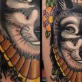 Wolf Thigh tattoo by Rose Hardy Tattoo