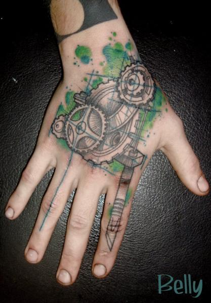 Arm Gear Tattoo Machine Tattoo by Belly Button Tattoo