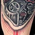 Arm Gear Heart tattoo by Belly Button Tattoo