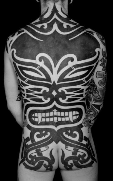 Back Tribal Butt Tattoo by Sakrosankt