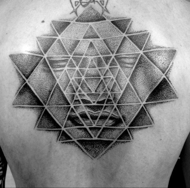 Chest Dotwork Geometric Tattoo by Sakrosankt