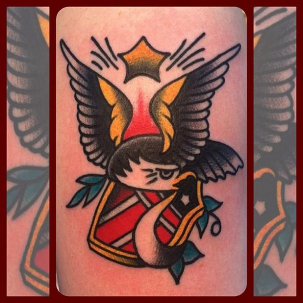 Old School Eagle Tattoo by Forever True Tattoo