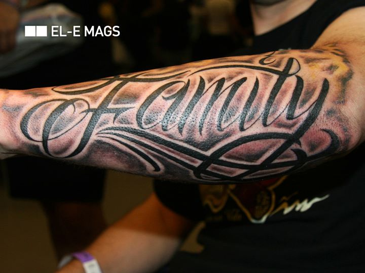 Arm Lettering Tattoo by Bang Bang NYC
