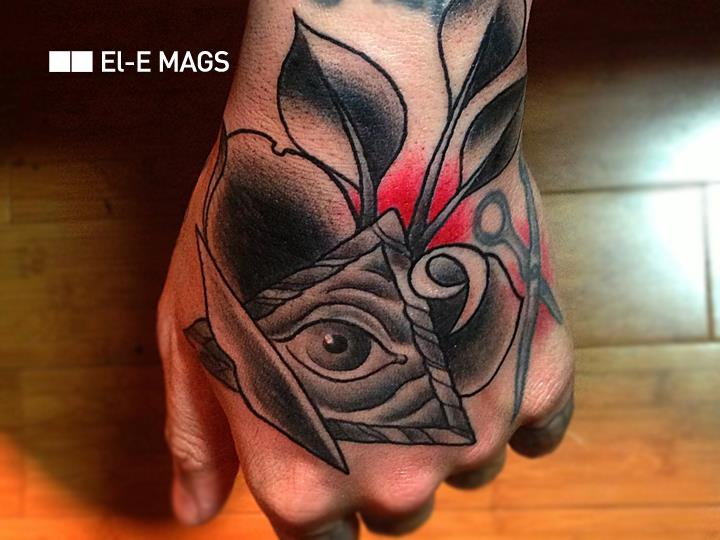 Old School Hand God Tattoo by Bang Bang NYC