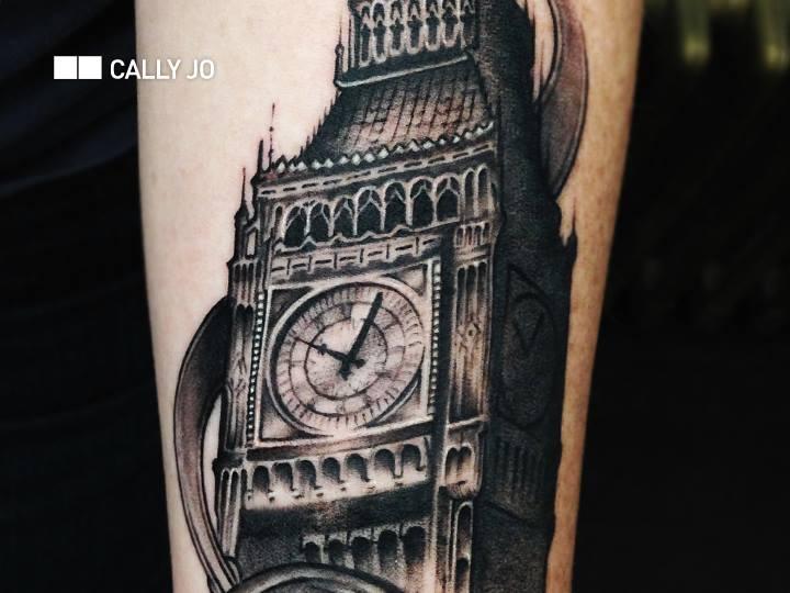Realistic Big Ben Tattoo by Bang Bang NYC