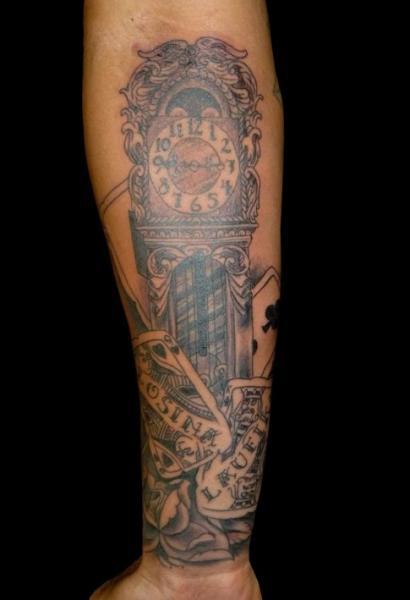 Arm Realistic Clock Tattoo by Bad Apples Tattoo