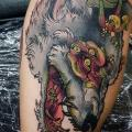 Arm Wolf Pilz tattoo von Bad Apples Tattoo