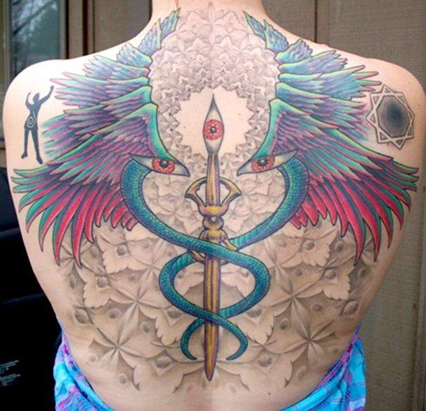 Back Wings Tattoo by Dead God Tattoo