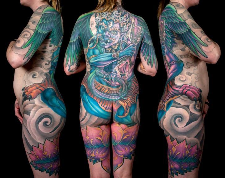 Japanese Demon Body Tattoo By Dead God Tattoo
