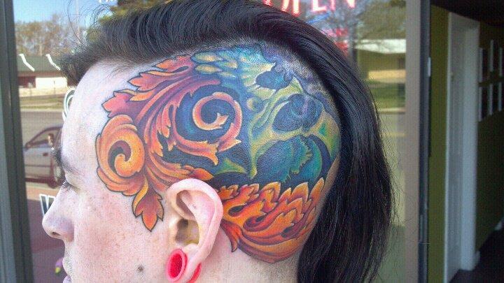 Fantasy Head Tattoo by Dead God Tattoo