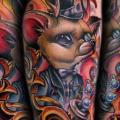 Arm Fantasy Mouse tattoo by Kelly Doty Tattoo