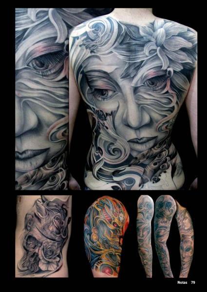 Tatuaje Fantasy Mujer Espalda por Mancia Tattoos