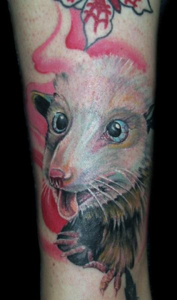 Realistic Mouse Tattoo by Mancia Tattoos