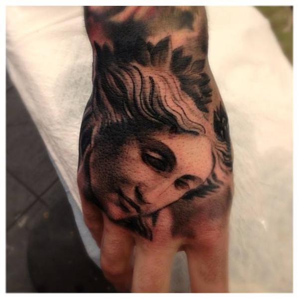 Hand Angel Tattoo by LDF Tattoo