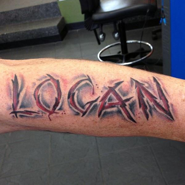 Arm Lettering Tattoo by LDF Tattoo