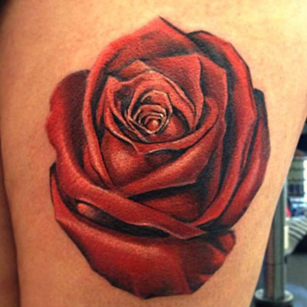 Tatouage Realiste Fleur Rose Par Ldf Tattoo