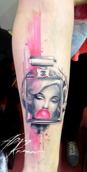 Arm Fantasy Marilyn Monroe Tattoo by Tribo Tattoo