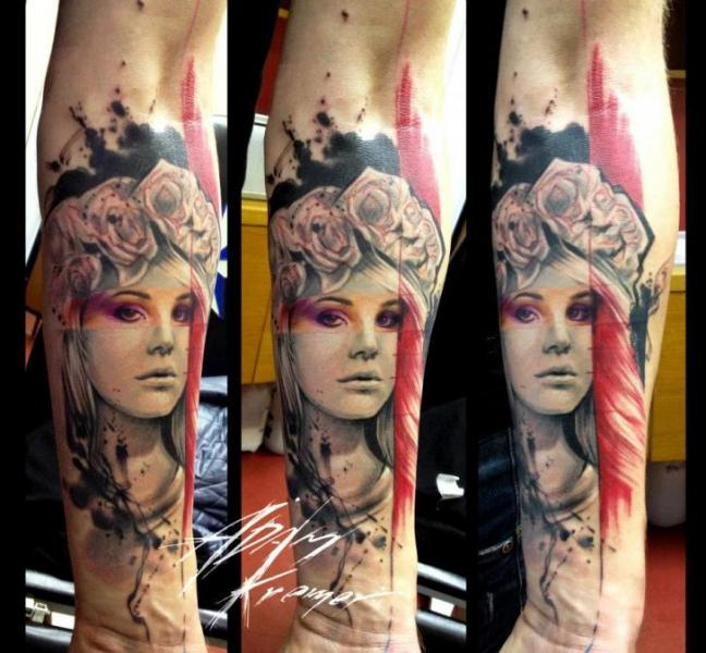 Arm Fantasy Women Tattoo by Tribo Tattoo