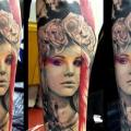 tatuaje Brazo Fantasy Mujer por Tribo Tattoo